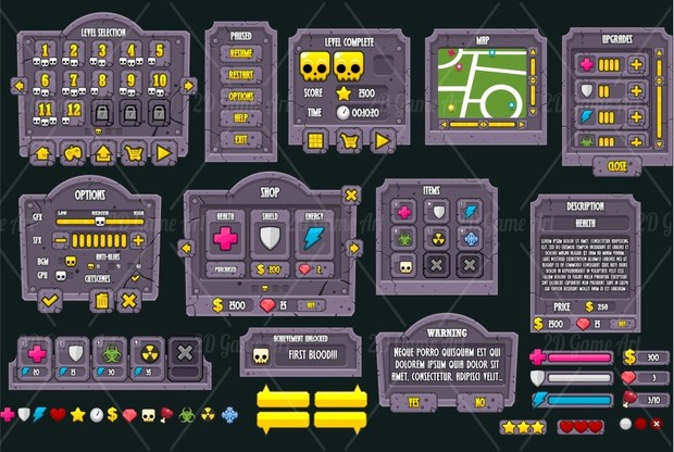 Zombie Outbreak - Game GUI