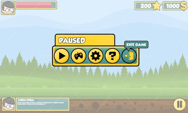 Simple Casual Game GUI