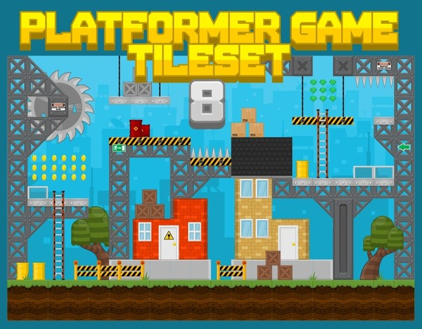 City Construction Site - Game Tileset