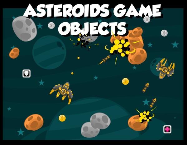 Asteroids Game Sprites