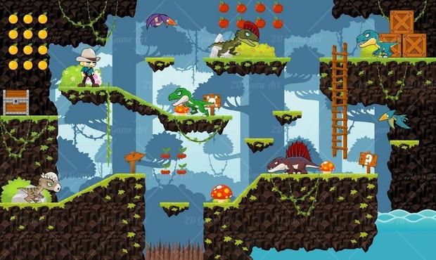 Dinosaur Park - Game Sprites