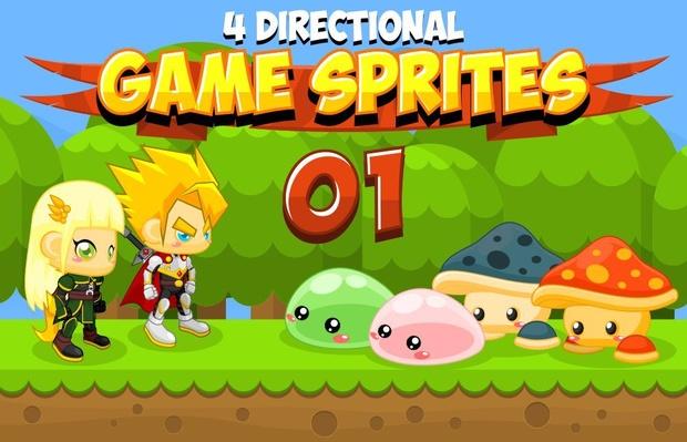 Hero Couple - 4 Directional Game Sprites