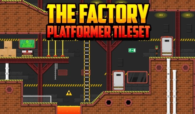 The Factory - Platformer Tileset