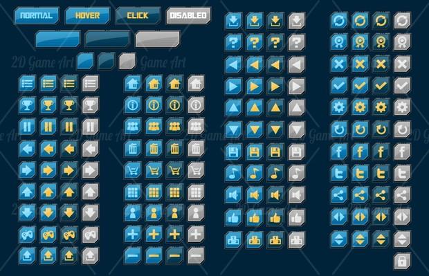 Sci-fi Game GUI
