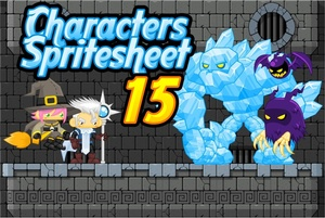 Witch & Ice Mage - Game Sprites