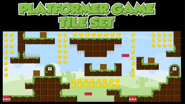 Blocky Land - Game Tileset