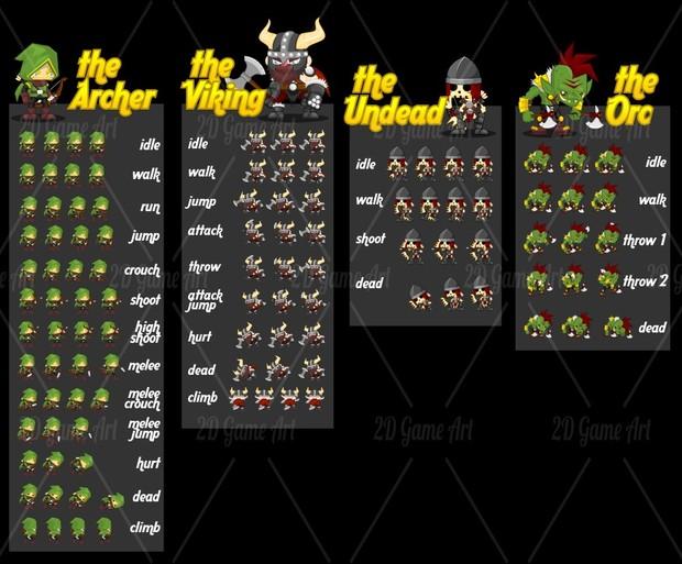Archer & Viking - Game Sprites