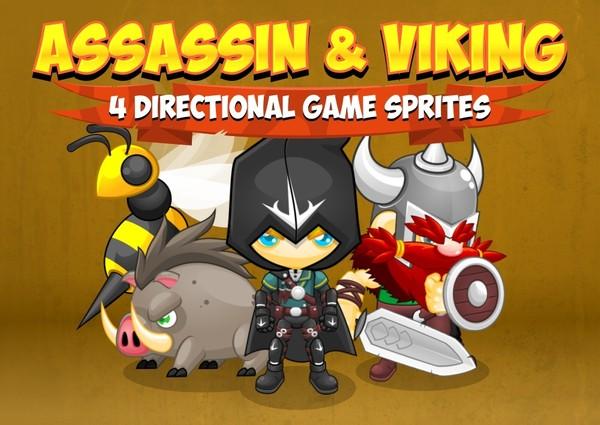 Assassin & Viking - Game Sprites