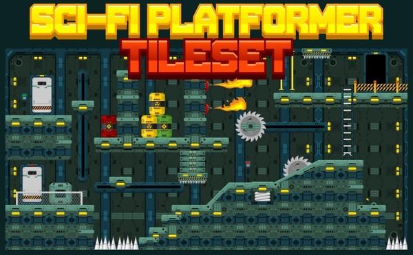 Sci-Fi Platformer Tileset
