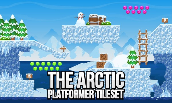 The Arctic - Platfomer Tileset
