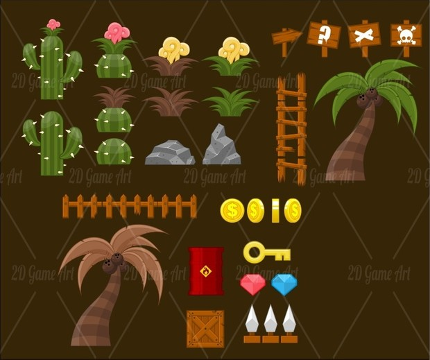 Egyptian Desert - Game Tileset