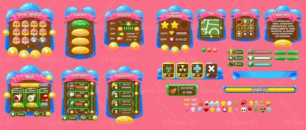 Jelly Crush Saga - Game GUI