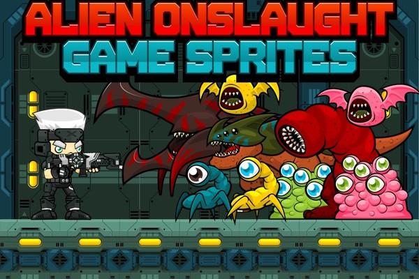 Alien Onslaught - Game Sprites