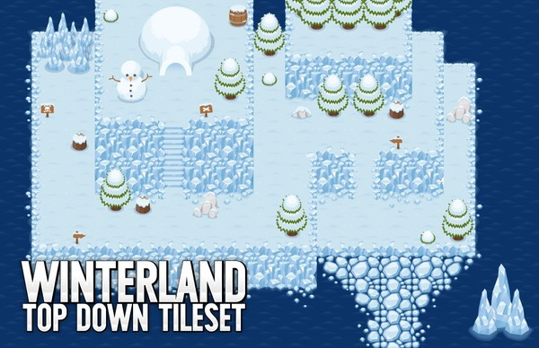 Winterland - Top Down Tileset