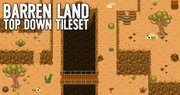 Barren Land - Top Down Tileset