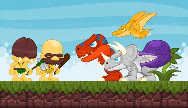 Dinosaur Age - Game Sprites