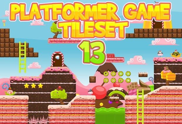 The Candyland - Game Tileset