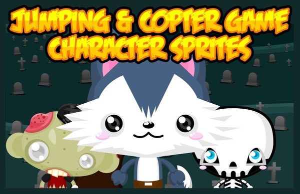 Jumping & Copters Game Sprites