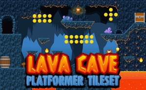 Lava Cave - Platformer Tileset