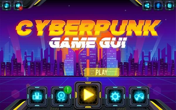 Cyberpunk Game GUI