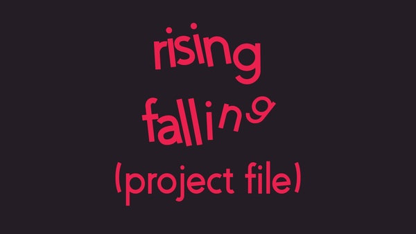 Rising/Falling Text - After Effects Tutorial (Project File)