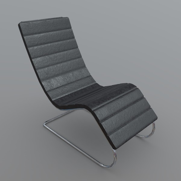 Chair modern - low poly PBR 3d model
