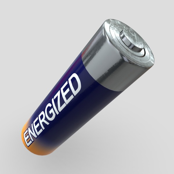 Battery AA - low poly PBR 3d model