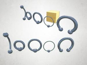 Piercings 2 - 3D Model