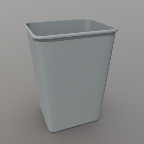 Recycle Bin - low poly PBR 3d model