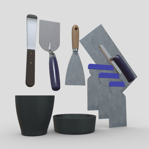 Industrial Tool Pack - low poly PBR 3d model