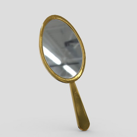 Hand Mirror 2 - low poly PBR 3d model