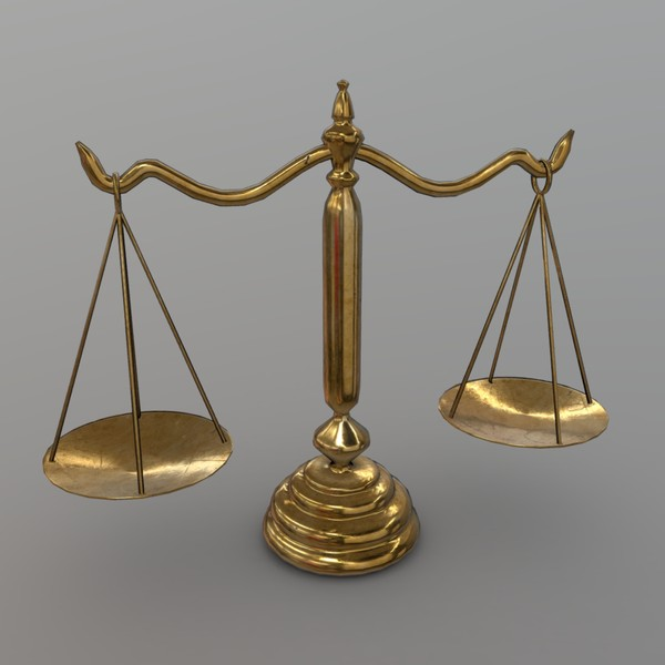 Balance Scale - low poly PBR 3d model