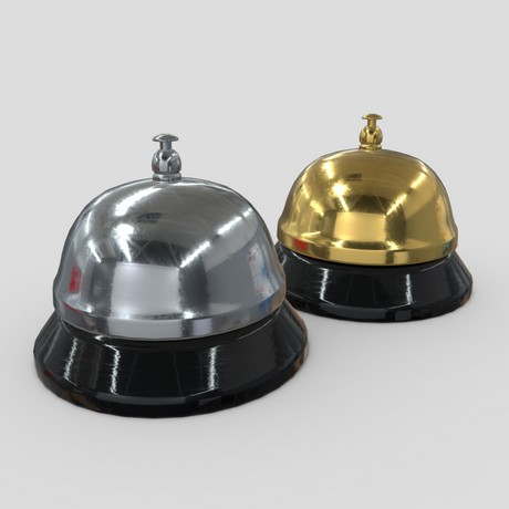 Reception Bell - low poly PBR 3d model