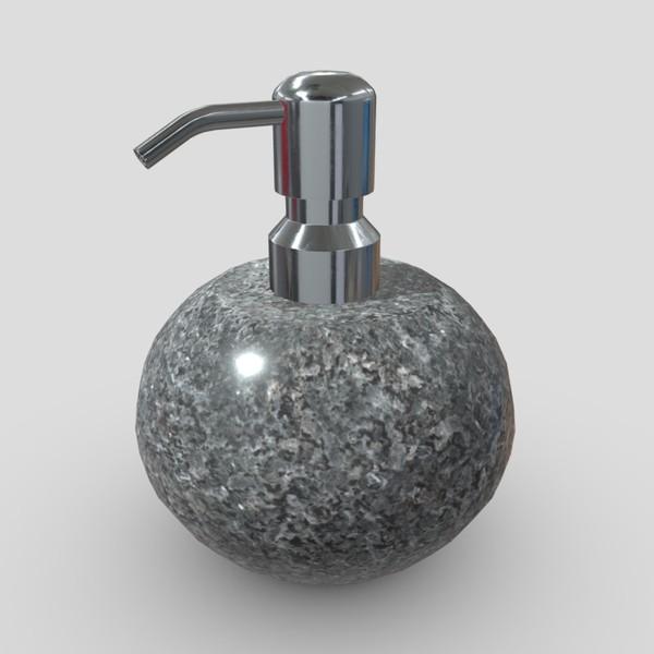 Soap Dispenser 6 - low poly PBR 3d model