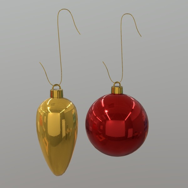 Christmas Bauble - low poly PBR 3d model