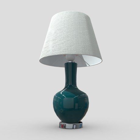 Table Lamp 2 - low poly PBR 3 model