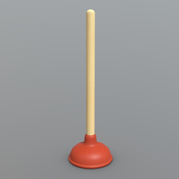 Plunger - low poly PBR 3d model