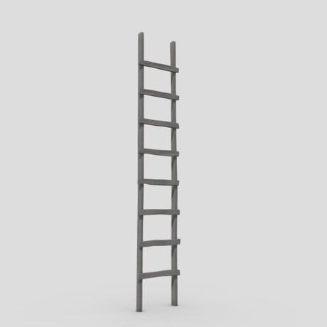 Ladder - low poly PBR 3d model