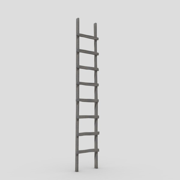 Ladder - low poly PBR 3d model