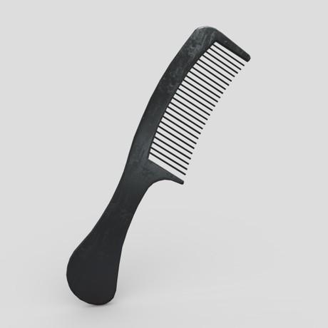 Hair Comb 2 - low poly PBR 3d model