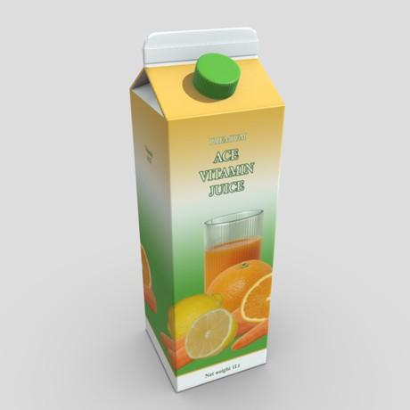 ACE Juice - low poly PBR 3d model