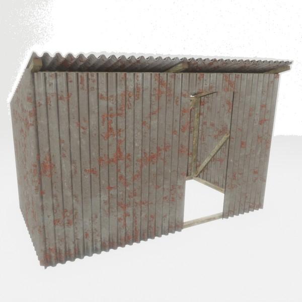 Shanty - low poly PBR 3d model