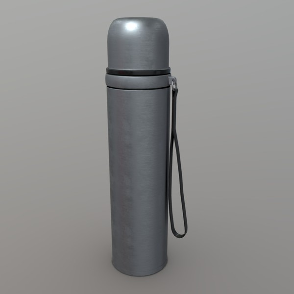 Thermos - low poly PBR 3d model