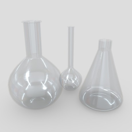 Laboratory Flask - low poly PBR 3d model