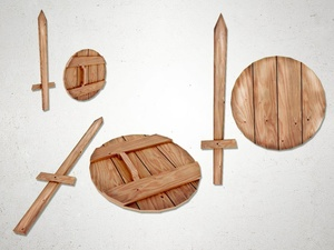 Wooden Sword - 3D Model