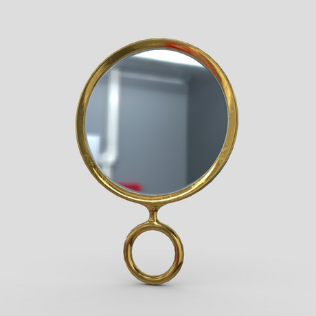 Hand Mirror 4 - low poly PBR 3d model