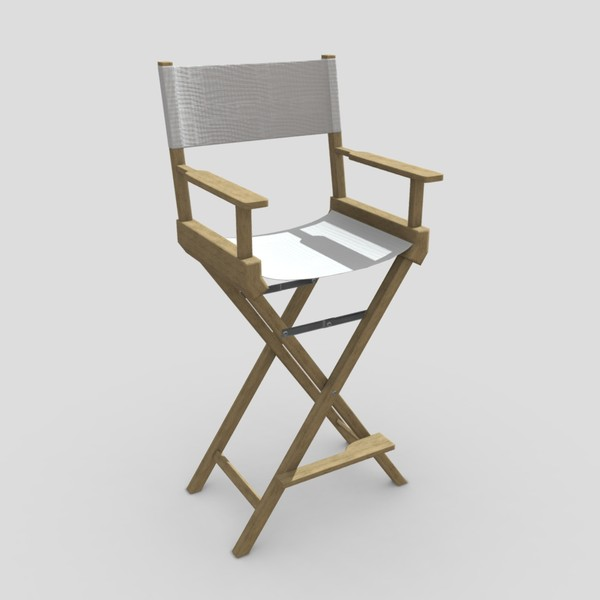 Director Chair - low poly PBR 3d model