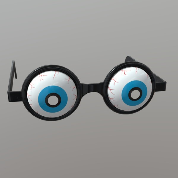 Novelty Glasses 2 - low poly PBR 3d model