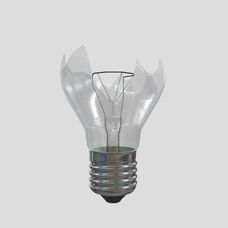 Light Bulb Broken - low poly PBR 3d model