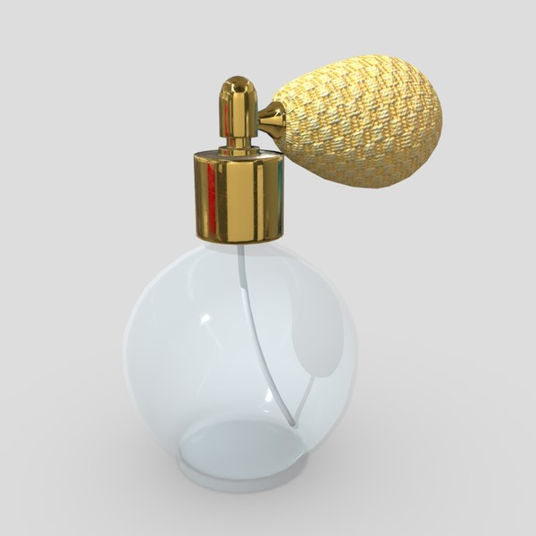 Perfume Bottle - low poly PBR 3d model